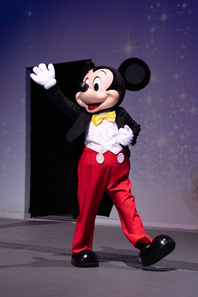 Mickey Mouse at the reopening of Disneyland Paris in June