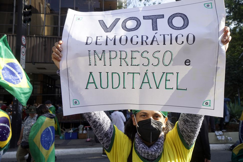 A majority of Brazilians oppose Bolsonaro's proposed election overhaul, which failed a key congressional vote this month. But