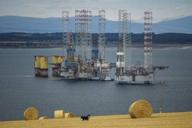 Oil rigs in