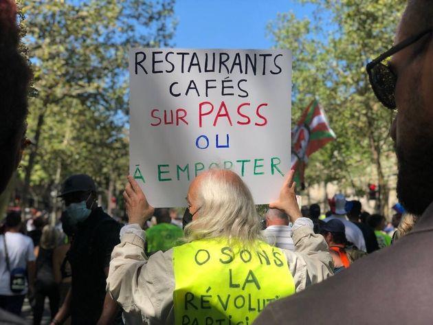 Des manifestations contre le pass sanitaire attendues dans toute la France ce samedi (Photo de la manifestation...