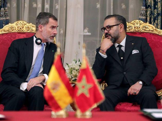 El Rey Felipe VI y Mohammed VI durante una reunión