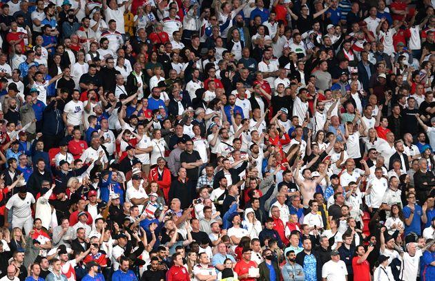Des supporters lors de la finale de l'Euro 2020 opposant l'Angleterre à l'Italie, le 11 juillet...