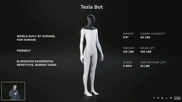 Il Ceo di Tesla Elon Musk ha presentato il progetto di un robot umanoide che debutterà in forma di prototipo