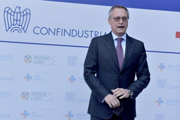 ROME, ITALY - JUNE 01: Confindustria President Carlo Bonomi attends a press conference to present the...