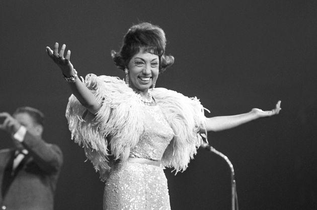 Joséphine Baker en mai 1963, à Berlin, en
