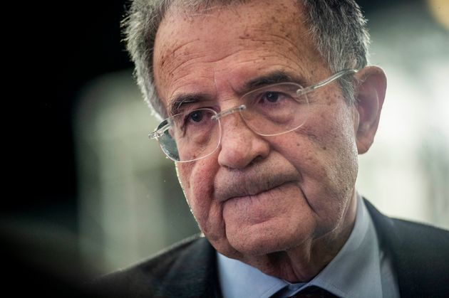 ROME, ITALY - DECEMBER 06: Former Italian politician and Professor Romano Prodi attends a press conference with Italian journalist Marco Damilano (not pictured) during the National Fair of Small and Medium Publishing,