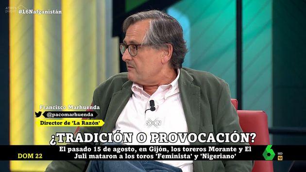 Francisco Marhuenda, en 'LaSexta