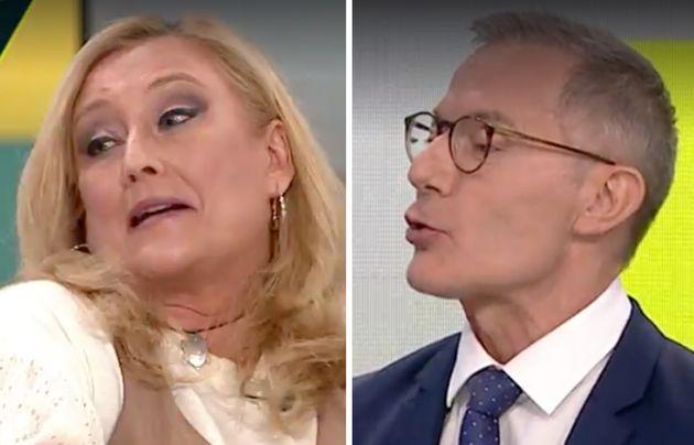 Elisa Beni, molesta con Hilario Pino durante 'LaSexta