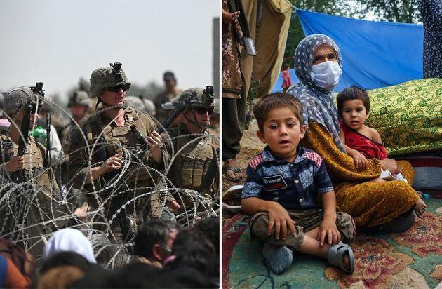 L'aeroporto di Kabul; profughi afghani scappati da Kunduz