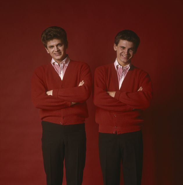 (L-R) Phil and Don Everly during the early years of their musical