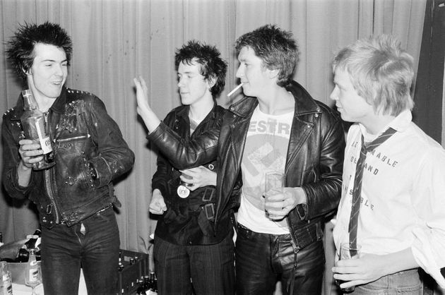 The Sex Pistols pictured in the late