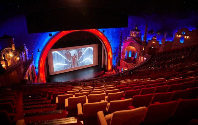 La Grande Salle du cinéma Grand Rex avant qu'il ne ferme ses portes à Paris, le 3 août