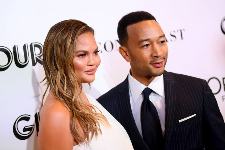 Chrissy Teigen and John Legend attend the 2018 Glamour Women of Year awards on Nov. 12, 2018, in New York City.
