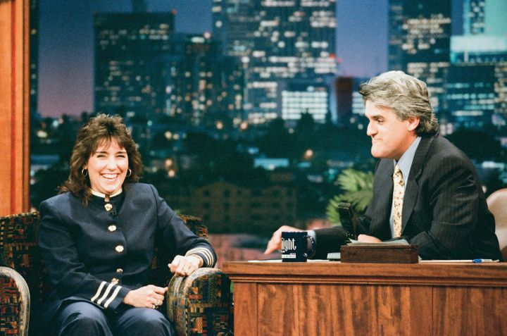 """Christy Salters Martin appears on """"The Tonight Show with Jay Leno"""" in 1996."""
