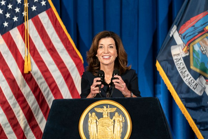New York Gov. Kathy Hochul will have a ceremonial swearing-in event Tuesday morning at the Capitol, with more pomp than the brief, legally required event during the night.