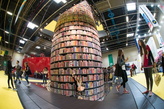 ITALY, TURIN, PIEDMONT - 2019/05/09: Overview inside the book fair during of the Turin International Book Fair. The Turin International Book Fair is the most important Italian event in the field of publishing, taking place at the Lingotto Fiere congress center in Turin once a year, in the month of May. (Photo by Stefano Guidi/LightRocket via Getty Images)