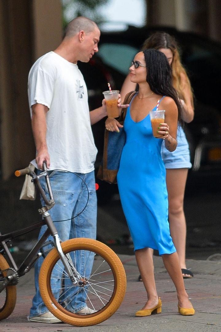 Channing Tatum y Zoe Kravitz por las calles de Nueva York.