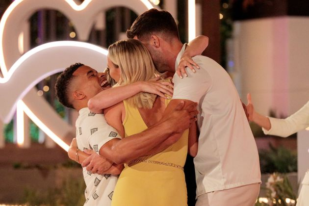 Love Island winners Millie and Liam celebrate their victory with runners up Chloe and