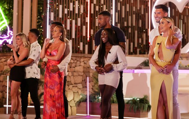 The final four couples pictured during the Love Island
