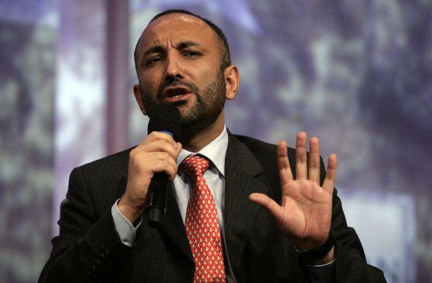 Mohammed Haneef Atmar . AFP PHOTO/NICHOLAS