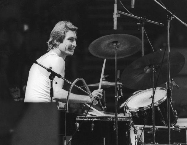 El batería Charlie Watts, durante un concierto en una imagen de