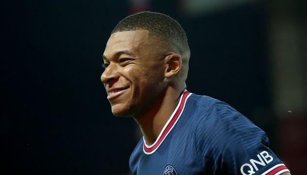 Mbappé, en el primer partido de liga francesa esta
