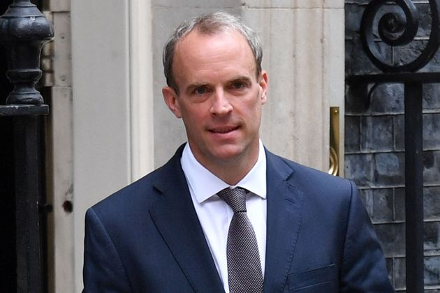 Dominic Raab leaves 10 Downing Street to return to the Foreign, Commonwealth and Development Office on...