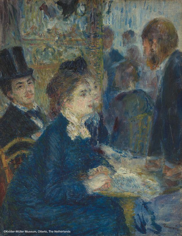 ピエール=オーギュスト・ルノワール 《カフェにて》 1877年頃