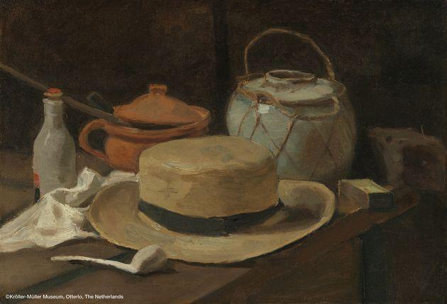 フィンセント・ファン・ゴッホ 《麦わら帽子のある静物》 1881 年 11 月後半-12