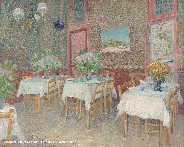 フィンセント・ファン・ゴッホ 《レストランの内部》
