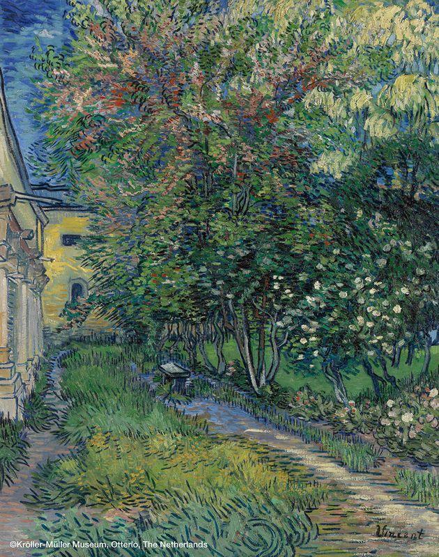 フィンセント・ファン・ゴッホ《サン=レミの療養院の庭》1889年5月