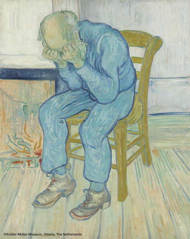 フィンセント・ファン・ゴッホ 《悲しむ老人(「永遠の門にて」)》 1890年5月