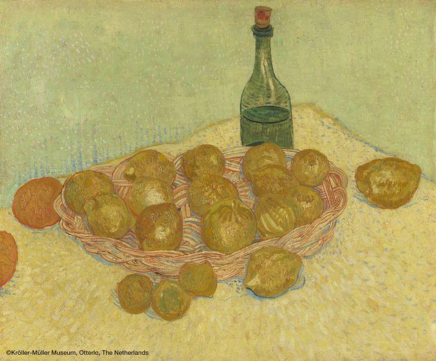 フィンセント・ファン・ゴッホ 《レモンの籠と瓶》 1888年5月