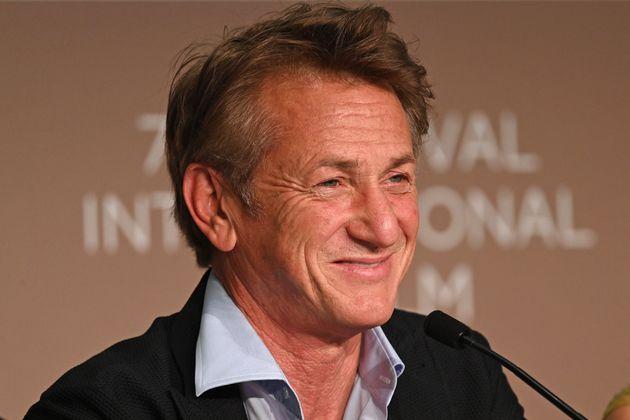 Sean Penn lors de la conférence de presse pour son film Flag Day à la 74ème édition...