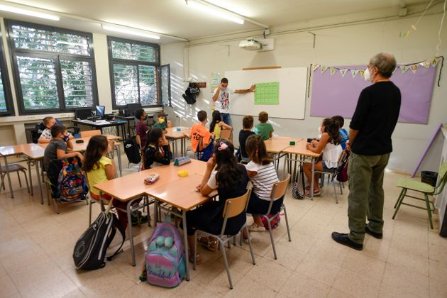 'Vuelta al cole' en un colegio de Barcelona el 14 de septiembre de