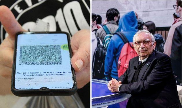 Green pass - il ministro dell'Istruzione Patrizio Bianchi