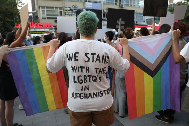Un rassemblement en solidarité avec la communauté LGBT+ afghane s'est tenu le 25 août...