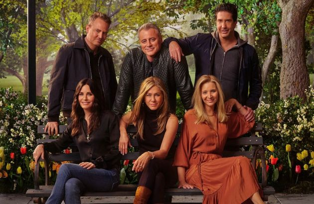 Friends cast in a promo shot for the recent reunion