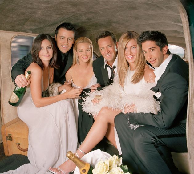 The Friends cast in a promo shoot for the tenth and final