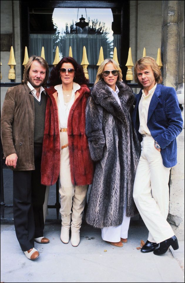 The four members of ABBA pictured in Paris in