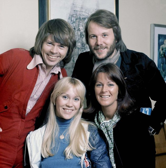 ABBA during a photo-shoot in