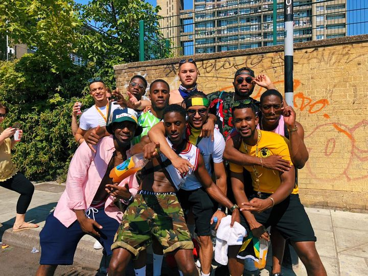 Jay and friends at Notting Hill Carnival