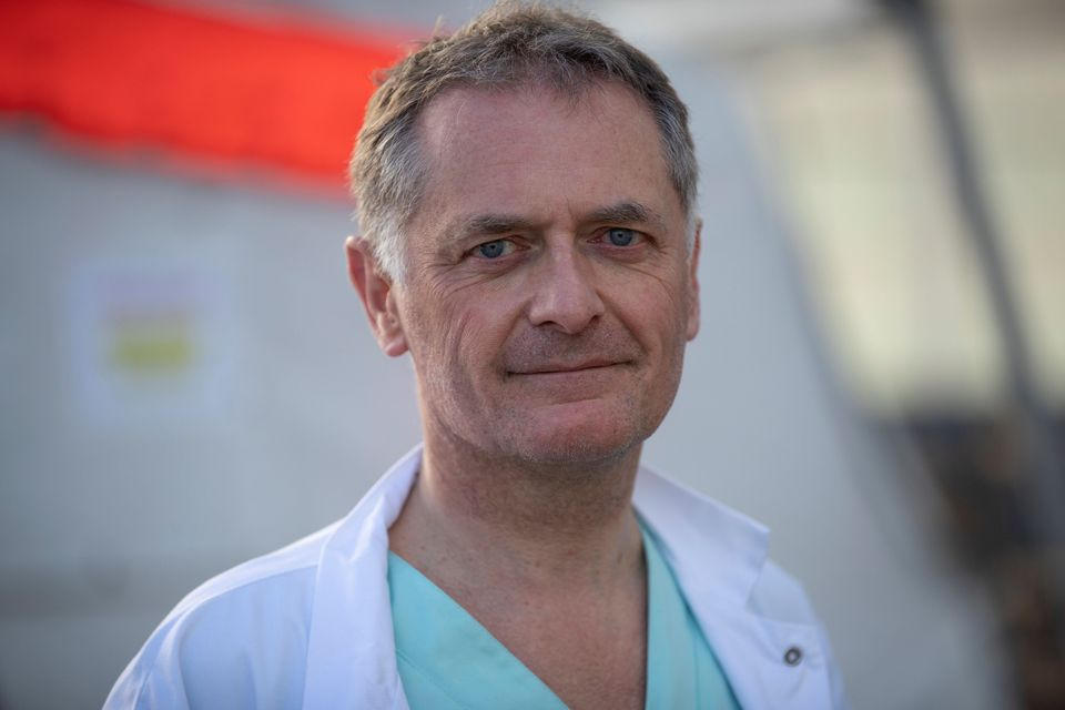 Le docteur Philippe Juvin, chef des urgences à l'hôpital Georges Pompidou (Paris), le 25 mars 2020.