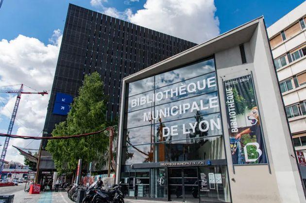 La bibliothèque municipale de Lyon dans le quartier Part-Dieu dans le centre de la