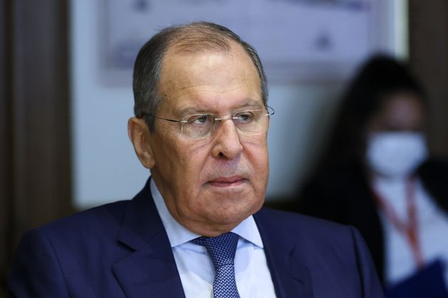 VIENNA, AUSTRIA - AUGUST 25, 2021: Russia's Foreign Minister Sergei Lavrov looks on during talks with Austria's Foreign Minister Alexander Schallenberg at the offices of the Ministry of Foreign Affairs of Austria. Russian Foreign Ministry/TASS (Photo by Russian Foreign Ministry\TASS via Getty Images)