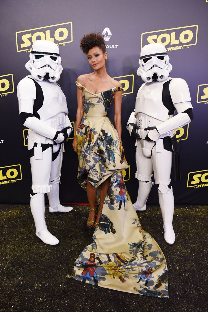 """Thandiwe Newton attends a screening of """"Solo: A Star Wars Story"""" during the Cannes Film Festival in 2018."""