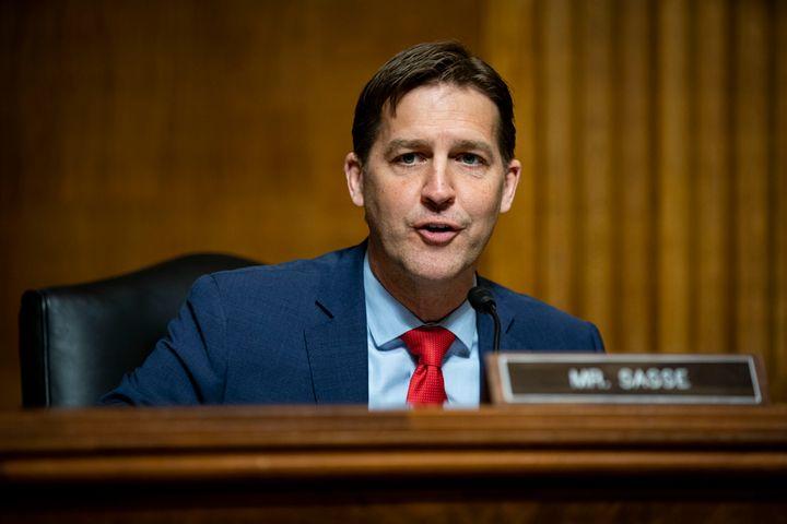 "Sen. Ben Sasse (R-Neb.), shown here at a Senate subcommittee hearing in April, said Thursday that said Biden needs to """