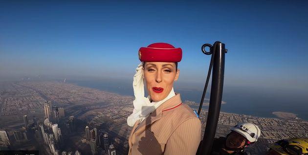 エミレーツ航空の公式YouTubeの映像