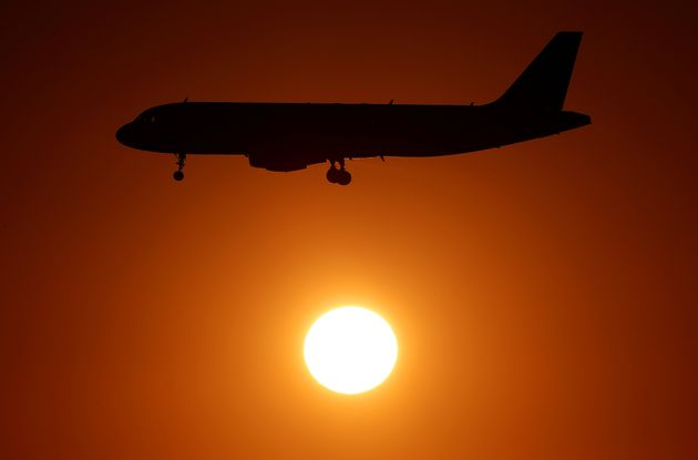 An Alitalia airplane approaches to land at Fiumicino airport in Rome, Italy October 24, 2018. REUTERS/Max