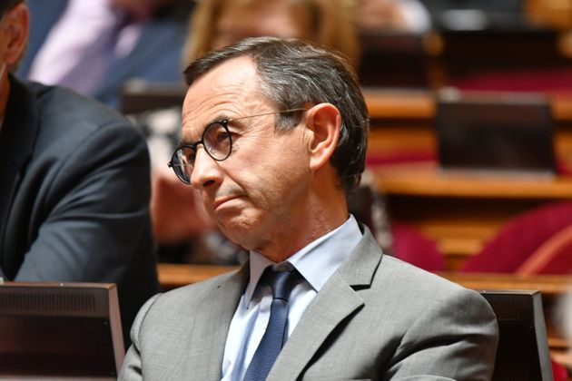 Senator Bruno Retailleau attends at the Session of the Questions to the Government by the Senators on...